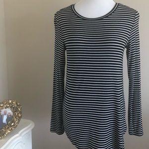 ON Black & White Striped Long Sleeve Shirt